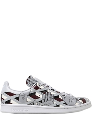 Adidas By Opening Ceremony Stan Smith Printed Leather Sneakers Grey