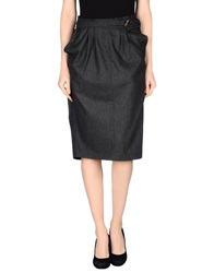 Just Cavalli Knee Length Skirts Steel Grey