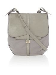 Radley Grosvenor Nylon Grey Medium Flap Over Cross Body Grey