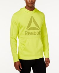 Reebok Men's Speedwick Fleece Logo Hoodie Yellow