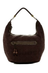 T Shirt And Jeans Crochet Hobo Bag Brown