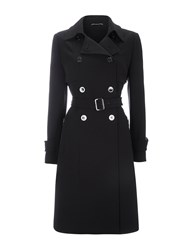 Wallis Black Gold Trim Trench Coat