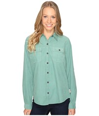 Royal Robbins Cascade Cord Long Sleeve Mint Women's Long Sleeve Button Up Green