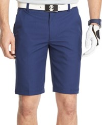 Izod Houndstooth Straight Fit Performance Golf Shorts Peacoat