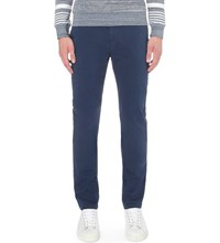 Orlebar Brown Campbell Tapered Stretch Cotton Chinos Navy