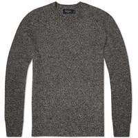 Paul Smith Ribbed Merino Crew Knit Grey Marl