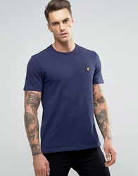 Lyle And Scott Pique T Shirt Eagle Logo In Navy Navy