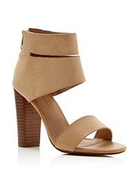 Splendid Jessa Open Toe High Heel Sandals Nude