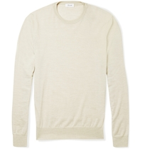 Faconnable Fine Knit Merino Wool Sweater Neutrals