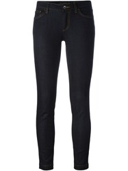 Dolce And Gabbana Cropped Skinny Jeans Blue