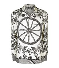 Dolce And Gabbana Wheel Print Pyjama Shirt Male Grey