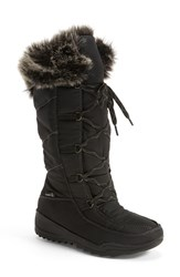 Women's Kamik 'Porto' Waterproof Winter Boot Black Fabric