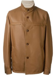 Loro Piana Reversible Buttoned Jacket Brown
