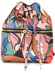 Marni Printed Drawstring Backpack Multicolour