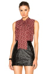 Alexis Louis Top In Red Floral Red Floral