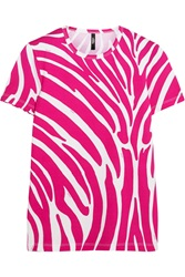 Versus Zebra Print Stretch Cotton T Shirt