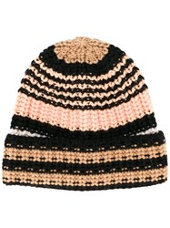 Sonia Rykiel Striped Knitted Beanie Multicolour