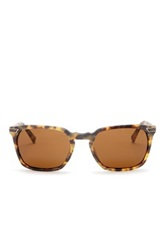 John Varvatos Men's Oval Keyhole Bridge Sunglasses Brown