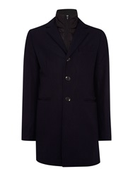 Scotch And Soda Single Breasted Coat Dark Navy