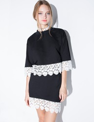 Pixie Market Two Piece Black And White Lace Dress