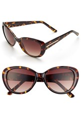 Women's Ivanka Trump 54Mm Cat Eye Sunglasses Bronze