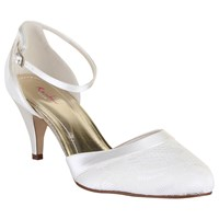 Rainbow Club Penny Lace Ankle Strap Court Shoes Ivory