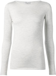 Brunello Cucinelli Boat Neck Sweater White