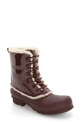 Hunter Women's Original Genuine Shearling Lined Waterproof Boot Dulse Patent Leather