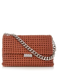 Stella Mccartney Becks Medium Woven Faux Leather Shoulder Bag Tan