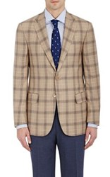 Isaia Men's Twill Two Button Sportcoat Tan