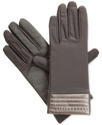 Isotoner Signature Smartouch Stretch Tech Gloves Charcoal