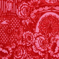 Pip Studio Dearest Peacock Wallpaper 313064 Red