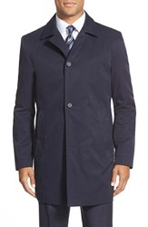 Men's Big And Tall Boss 'Dais' Trim Fit Overcoat Navy