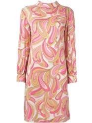 Emilio Pucci Vintage Printed Shift Dress Pink And Purple