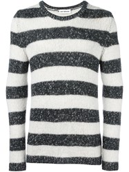 Umit Benan Striped Jumper Black