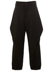 Moohong Riding Cut Tapered Trousers Black
