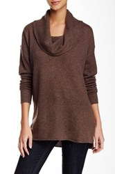 Susina Cowl Neck Cashmere Sweater Brown