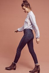 Anthropologie Mother Looker Mid Rise Skinny Jeans Dark Denim
