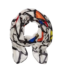 Desigual Rectangle Trencadis White Scarves