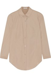 Carven Cotton Poplin Shirt Nude