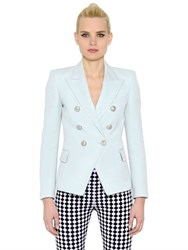 Balmain Double Breasted Felted Wool Jacket