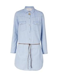 Maison Scotch Denim Shirt Dress Blue