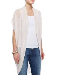 Eileen Fisher Linen Cocoon Long Cardigan Bone Ivory