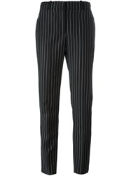 Givenchy Embroidered Pinstripe Trousers Black