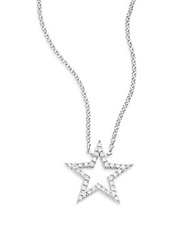 Saks Fifth Avenue Diamond And 14K White Gold Open Star Necklace