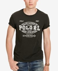 Polo Ralph Lauren Men's Big And Tall Graphic Print T Shirt Polo Black
