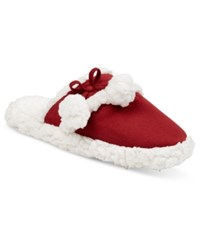 Charter Club Faux Sherpa Scuff Slippers Only At Macy's Red Brick
