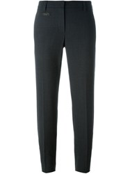 Brunello Cucinelli Cropped Tailored Trousers Grey