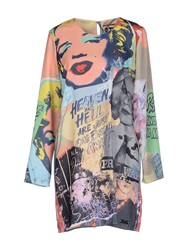 Andy Warhol By Pepe Jeans Short Dresses Yellow