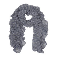 East Knitted Ruched Scarf Grey